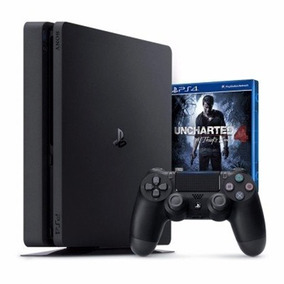 Sony Play Station 4 Slim + Uncharted 4 + 2 Control + Protect