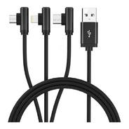 Cable Carga Celular O Tablet 3 En 1 Microusb Usbc Lightning
