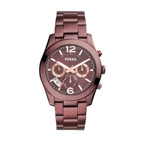 Reloj Dama Fossil Es4110 Color Rojo De Acero Inoxidable
