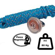 Imã De Neodímio Pesca Magnetica Até 80 Kilos De Tração