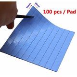 Pad Almohadilla Disipador De Calor, 100 Pzas, 1cmx1cmx1.5mm