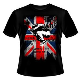 Camiseta Banda Rock The Who Logo Pulando Bandeira - Mod. 69