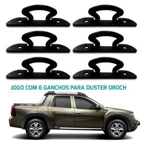 Ganchos Caçamba Renault Duster Oroch 2015 Kit 06 Ganchos