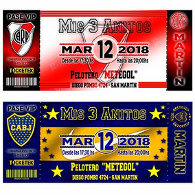 Tarjetas Invitaciones Infantiles De Futbol Pack X30 En 24 Hs