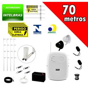 Kit Cerca Elétrica Intelbras E Alarme + Bateria P/70 Metros