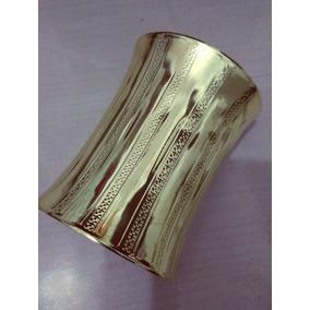 Kit Atacado Com 10 Bracelete Dourado Grande Moda Egípcia