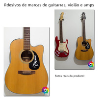 Adesivo Guitarra Violão Logo Takamine Gibson Fender Ibanez