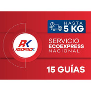 15 Guías Prepagadas  Ecoexpress Hasta 5 Kg