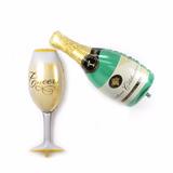 Globo Copa O Botella Champagne 48cm Boda Aniversario