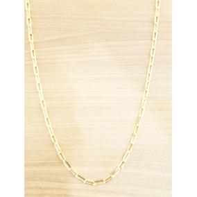 Corrente Cordão Masculina Cartier 80cm 2mm Folheada Ouro