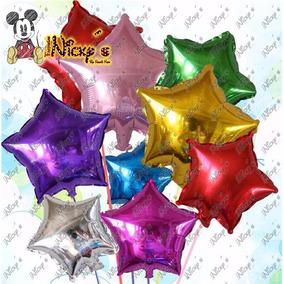 100 Globos Con Forma De Estrella De 9 Pulgadas 24 X 24cm
