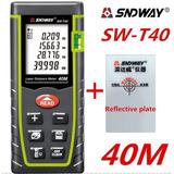 Medidor Laser De Distancia 40 M Sndway + Lámina