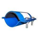 Faja Para Tubería 4 Pulgadas Azul Tipo Galápago