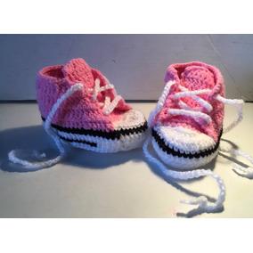 Zapatillas Crochet Escarpines Bebé 0/6 Meses