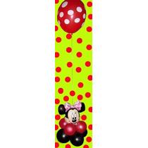 Centro De Mesa O Souvenir Minnie Mickey Con Globos