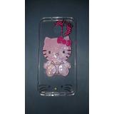Funda Liquid Shine Galaxy S7 Edge Hello Kitty