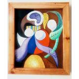 Picasso Replica ,mujer Con Flor