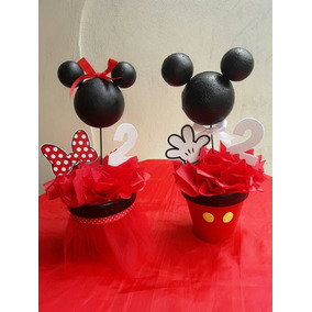 Centros De Mesas . Minnie Y Mickey Mouse