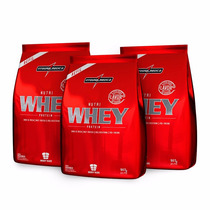 Kit Combo 3x Nutri Whey 907g - Integralmédica Chocolate