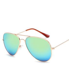 Óculos De Sol Espelhado Feminino Piloto Promoção