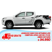 Adhesivos Fango, Barro Mitsubishi L200 Stikers Tipo Raptor