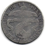 8 Reales 1841 Bogotá R. S. Nueva Granada