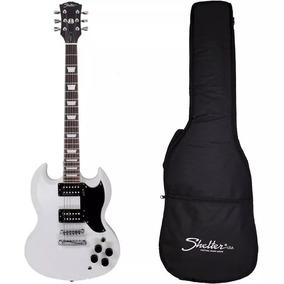 Guitarra Sg Shelter Detroit Det305 Branca Com Bag E Correia
