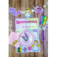 Combo Kit Set Alicia Pais Maravilla Cumpleaños Cotillon