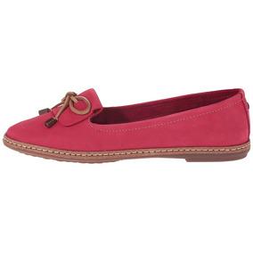 Zapato Mujer Hush Puppies Adena Piper Rojo Planos