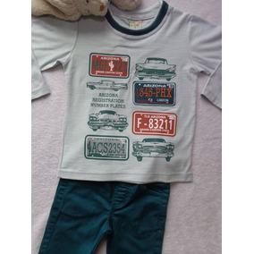 Conjunto Camiseta Manga Longa Calça Sarja Infantil Menino Ha