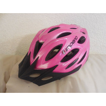 Casco Bicicleta Patin Patineta Con Luz Incluida,rosa