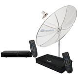 Antena Parabólica 1,70m + Lnbf Multiponto + 2 Receptores