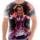 Camiseta Camisa Personalizada Sombra Overwatch Jogo 2