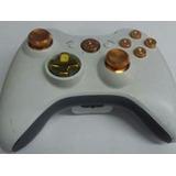Capuchones+botones+d-pad Dorado Control Xbox 360 Envo Gratis