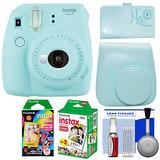 Fujifilm Instax Mini 9 Instant Film Camera & Film Pack (ice