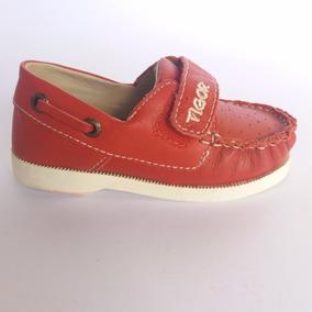 Sapato Em Couro Vermelho Infantil - Tigor T. Tigre Original