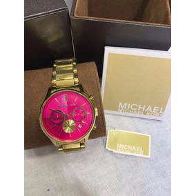 1dae0ca322913 ... undefined Loading zoom  Relógio Michael Kors Feminino Original Fundo  Rosa Completo