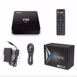 Tv Box Android 6.0 V88 4k 3d 32gb Netflix Kodi Configurado