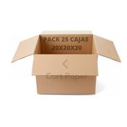 Cajas De Cartón 20x20x20/ Pack 25 Cajas / Cart Paper