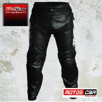 Pantalon Moto Cuero Proskin Racing Motoscba
