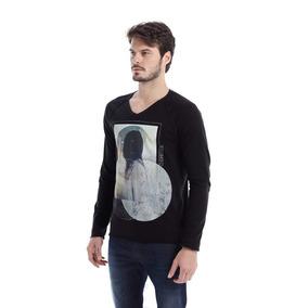 Camiseta Osmoze Manga Longa Preto P