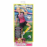 Barbie Muñeca Movimientos Deportivos Ultra Fleofible, Fútbol