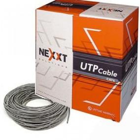Bobina Cable Utp Nxt Cat5e 305m Gris Cobre Sólido
