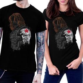 23618002a7 Camiseta Bucky Soldado Invernal Manga Comprida - Camisetas Manga ...
