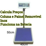 Balança Digital Balcão Inox Painel Removível 300kg Memoriza