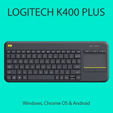 Teclado Logitech K400 Plus Touch Pad Inalambrico Negro