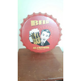Letrero Redondo Metal Vintage Tapa Cerveza Beerpub, Bar,etc.