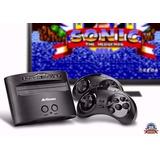 Vídeo Game Mega Drive Sega Genesis Com 80 Jogos 2 Controles