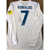 Camisa Do Real Madrid Mundial 2017 Ronaldo Jogo Autografada fde39e2b7e75a