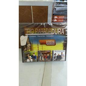 Box Trio Parada Dura 3 Cds Trilogia Lacrado E Original